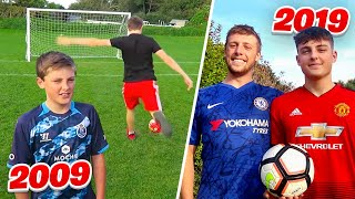 FOOTBALL CHALLENGES vs MY BRO  2009 - 2019