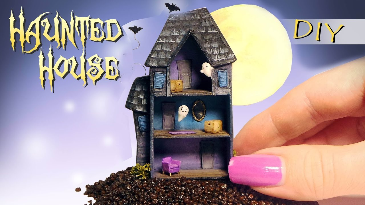 Miniature haunted house tutorial diy dolls dollhouse for Build a haunted house