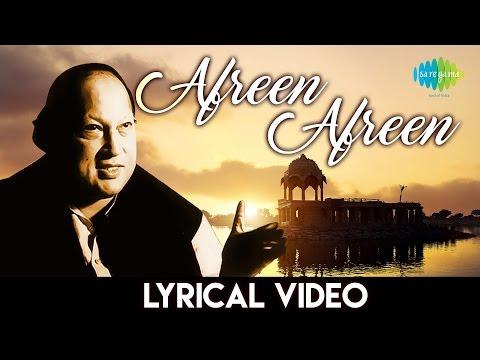Afreen Afreen with lyrics  Nusrat Fateh Ali Khan  आफरीन आफरीन गानो के बोल  नुसरत फ़तेह अली खान