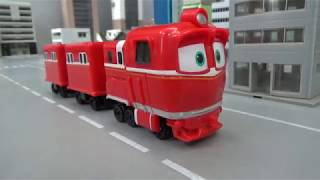 Robot Trains Red Train Drive Play Toys Video For Kids
