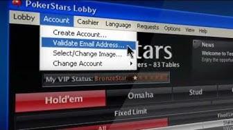Create pokerstars account