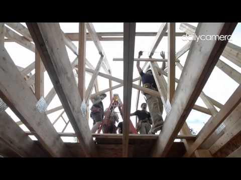 Video: #CUVets help #HabitatforHumanity in #Jamestown.