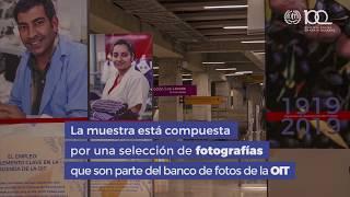 Exposición 100 años OIT Metro de santiago de Chile