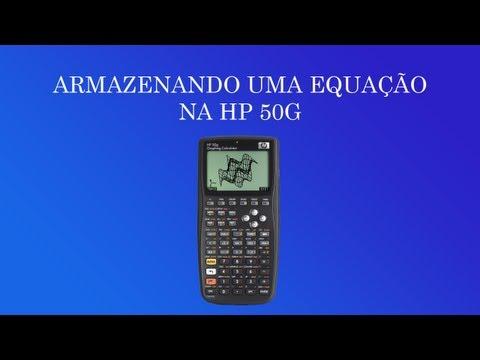 Como gravar/armazenar uma equação na HP 50G