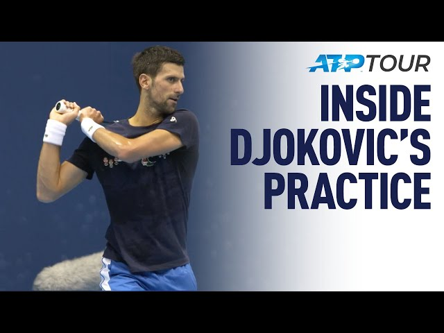 BEHIND THE SCENES | Novak Djokovic London Practice