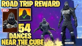 ENFORCER 54 DANCES near The Mystic Galaxy CUBE - Road Trip Reward Season 5 Fortnite Battle Royale