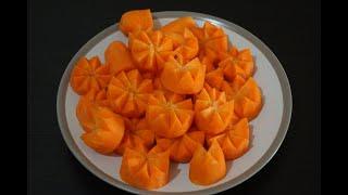 How to make carrot flowers  - Cách tỉa hoa cà rốt đơn giản