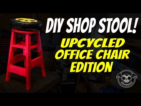 SleepyOni: DIY Shop Stool! - Upcycled-Office-Chair Edition