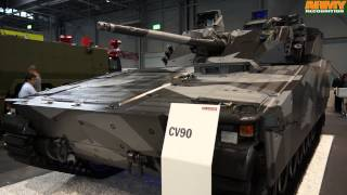 BAE Systems IDET 2015 CV 90 infantry fighting vehicle long range air defense radar exhibition fair