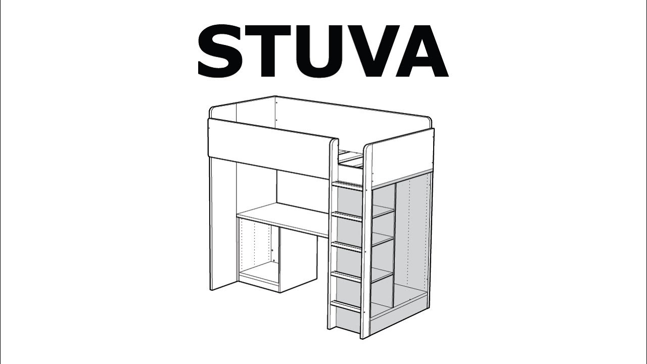 How To Assemble The Stuva Storage Unit Youtube