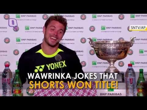 French Open: Stanislas Wawrinka Jokes That Shorts Won Title