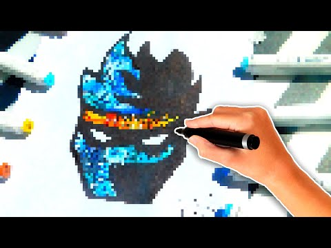 *AMAZING* DRAWING NINJA'S FORTNITE LOGO DIFFERENTLY | HOW TO DRAW NINJA'S YOUTUBE/ TWITCH LOGO