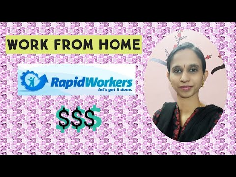 How to earn money from Rapidworkers.com? Make 100/- per hour/ Work from home in Tamil