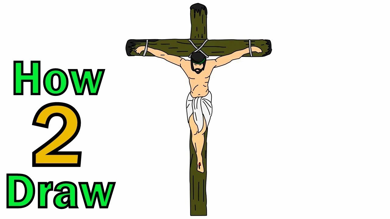 How to Draw Jesus on Cross , Arts for Kids