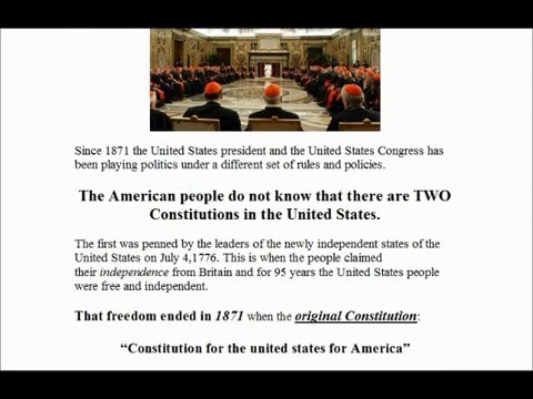 The 2nd Constitution Revealed ~ The Act of 1871 ~  We Lost Our Freedom And Did Not Know It