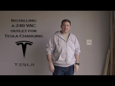 DIY install a 240v outlet for Tesla (EV) Charging - SUPER EASY!!