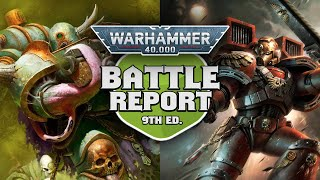 NEW Death Guard vs Blood Angels Warhammer 40k Battle Report - Codex First Impressions