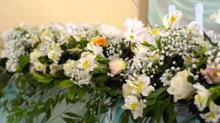 Оформление и украшение зала живыми цветами в Волгограде