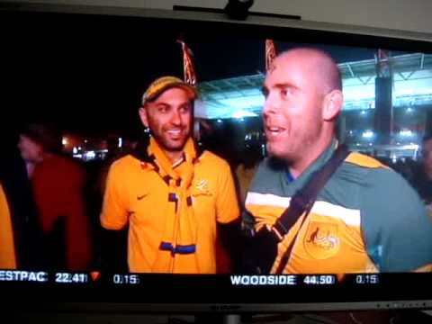 Australian fans in Nelspruit, South Africa for World Cup 2010 (ABC News)