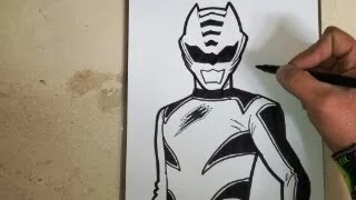 HOW TO DRAW POWER RANGER FURY JUNGLE - RED / como dibujar power ranger af - rojo