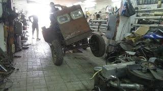 Замена сцепления на самодельном тракторе.