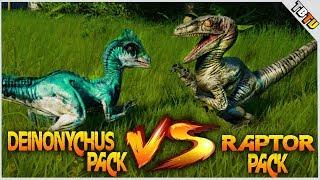VELOCIRAPTOR ARMY VS DEINONYCHUS ARMY! DINO ARMY BATTLE! Jurassic World Evolution Dinosaur Battle Pa