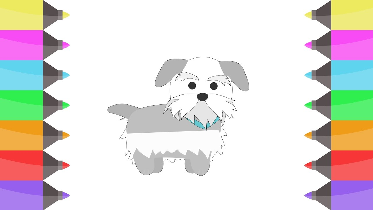 colours for kids dogs coloring pages to learn colours for children