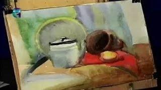 Уроки рисования (№ 57) акварелью. Рисуем натюрморт из бытовых предметов