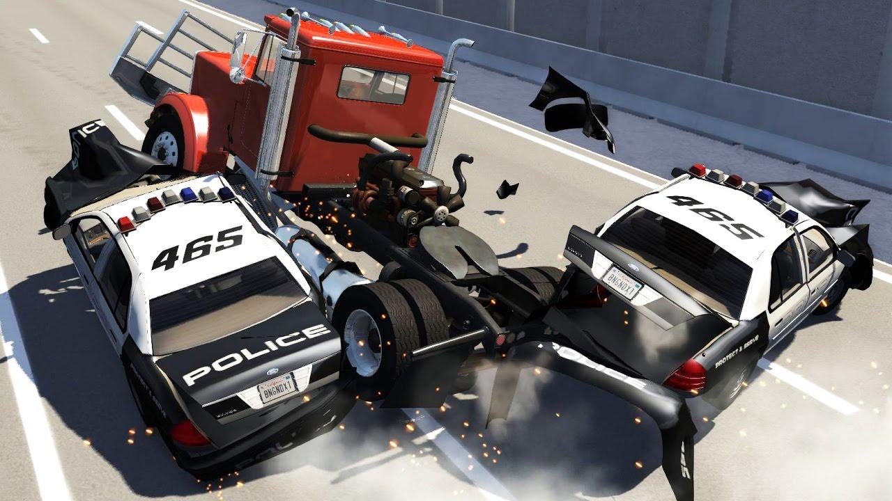 Trucks Vs Cars #2 - BeamNG.Drive HD - YouTube