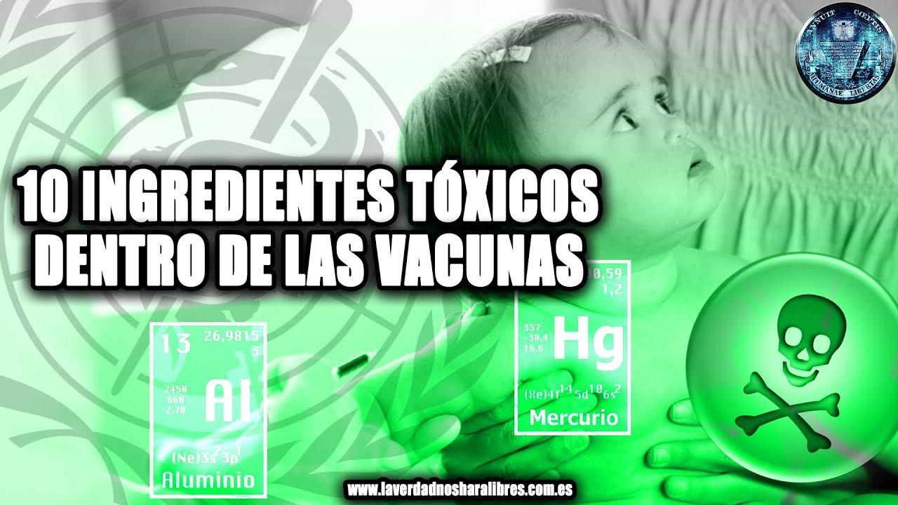10 INGREDIENTES TÓXICOS DENTRO DE LAS VACUNAS