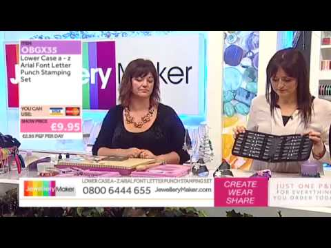 How To Stamp For Jewellery Making - JewelleryMaker LIVE (am) 23/11/2014