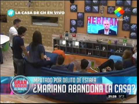 """""""Gran Hermano 2015"""": Mariano anunció que se queda en La Casa"""