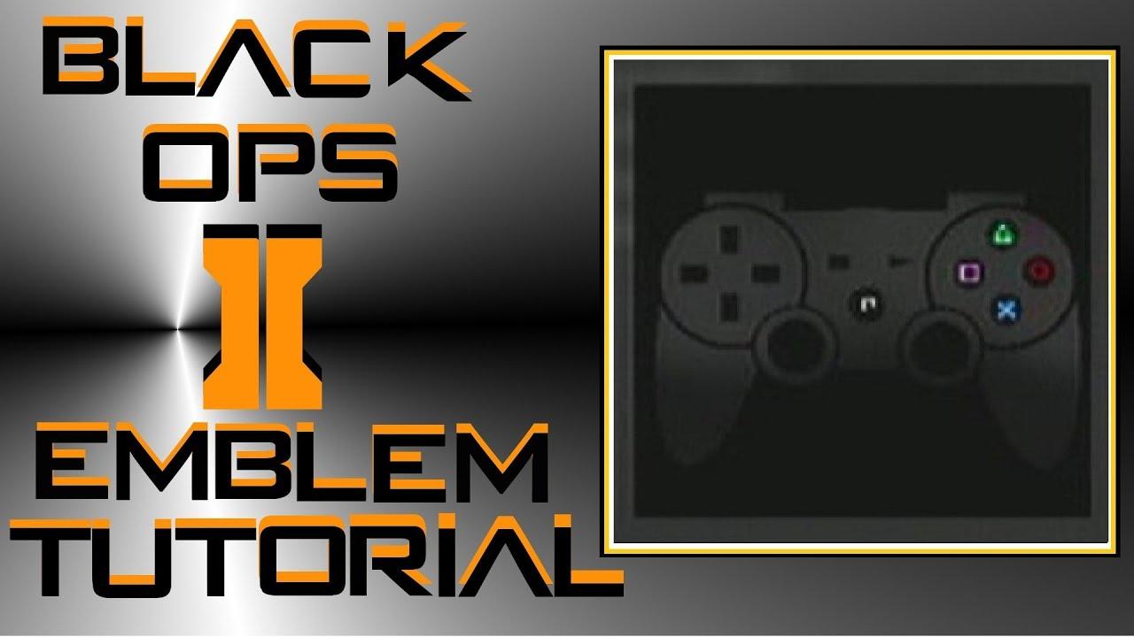 Call of Duty Black Ops 2 : Ps3 Controller Emblem Tutorial ...