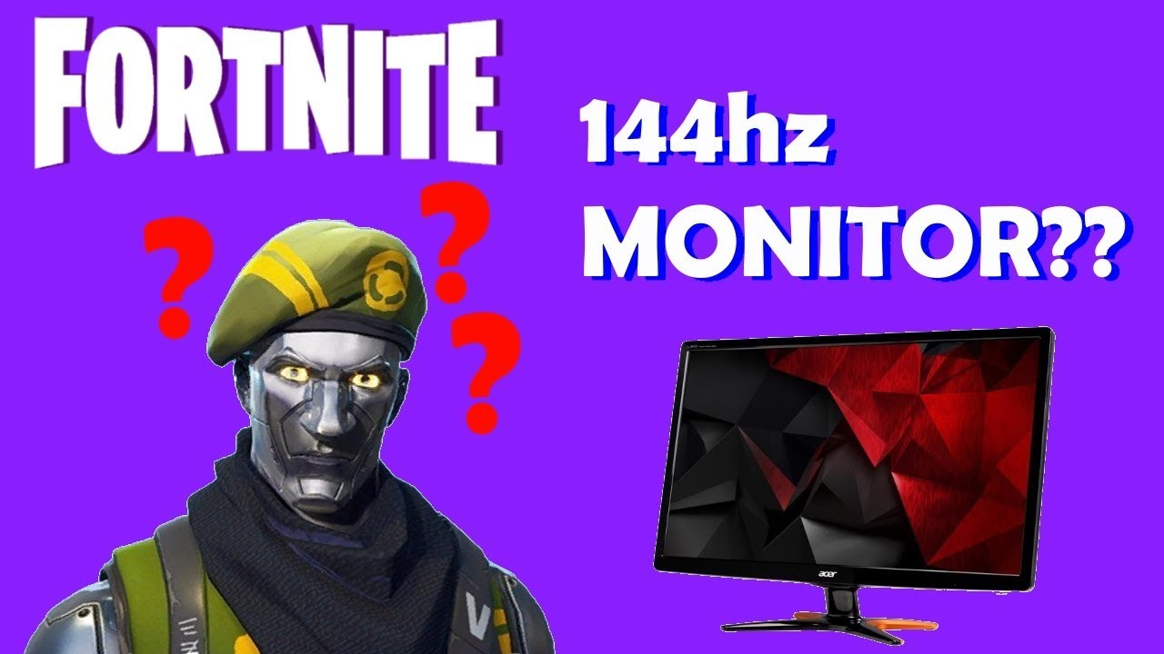 playing fortnite battle royale on a 144hz monitor for the first time - fortnite 144hz vs 240hz