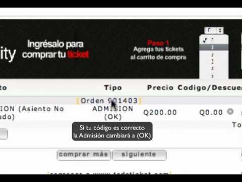 Como comprar tickets para TEDx Guatemala 2012