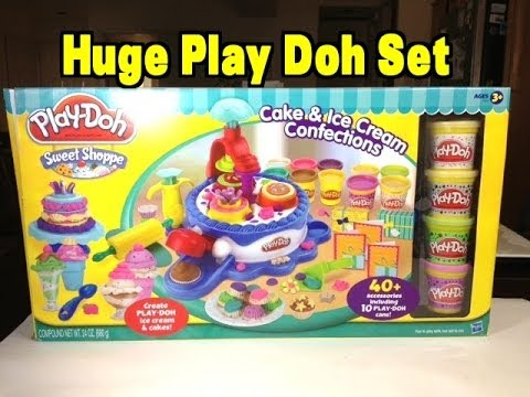 Cake Ice Cream Play Doh : Play-Doh Huge Sweet Shoppe Ice Cream and Cake Maker Play ...