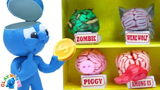 Choose Your Brain - Clay Mixer Stop Motion Animation