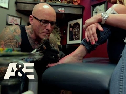 Bad Ink: Dirk Saves A Bride's Foot Tattoo (Season 2, Episode 3) | A&E