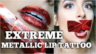 EXTREME METALLIC LIP TATTOO - LIVE TEST! Lamiya Slimani