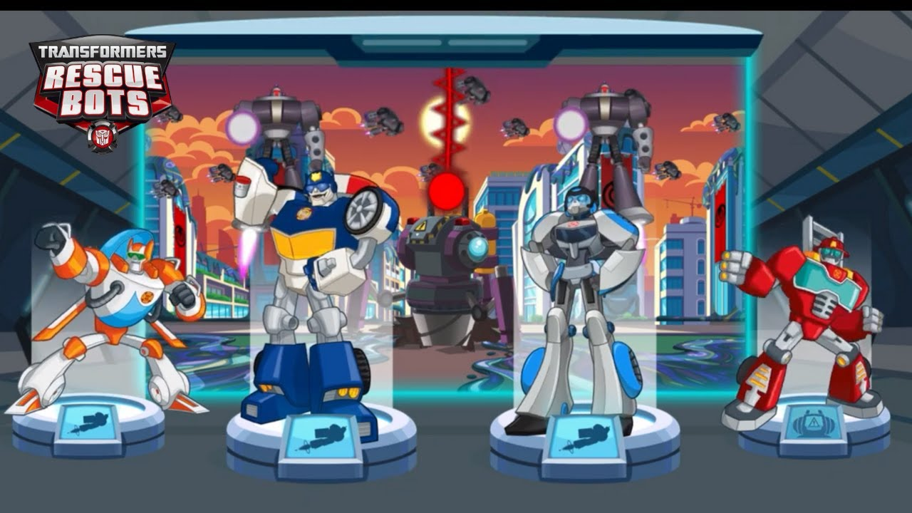 Transformers Rescue Bots: Hero 🤖 Defeat and capture the invading Morbots!