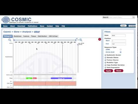 COSMIC Gene Pages Tutorial