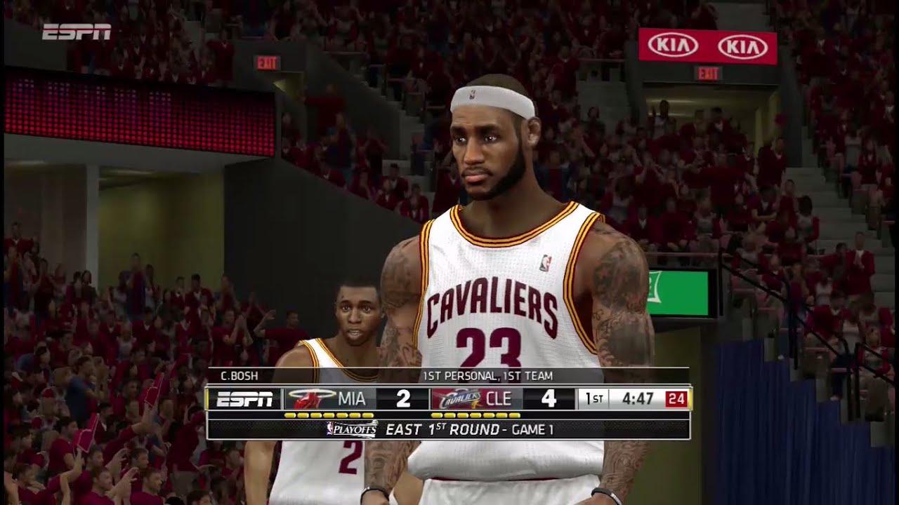 Miami heat roster nba - Nba 2k14 Lebron James Vs Miami Heat Espn Mod Ultimate Base Roster V18 Youtube