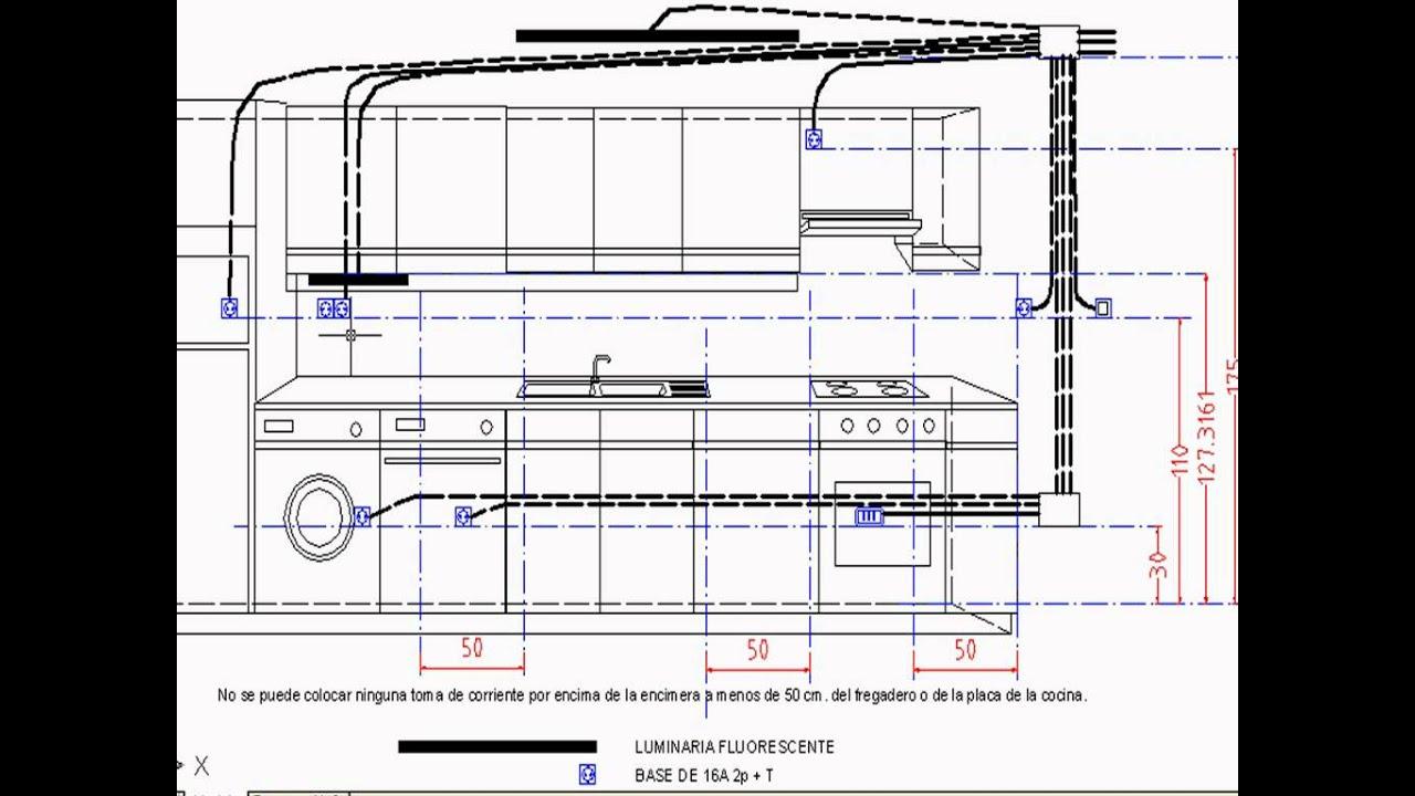 Electricista instalaci n el ctrica de una cocina youtube for Como hacer un plano de una cocina