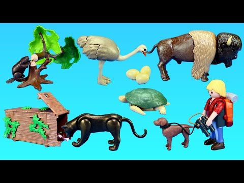 Thumbnail: Playmobil Wildlife Animals Figures and Building Toy Sets For Kids