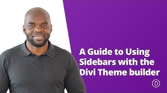 A Guide to Using Sidebars with the Divi Theme builder