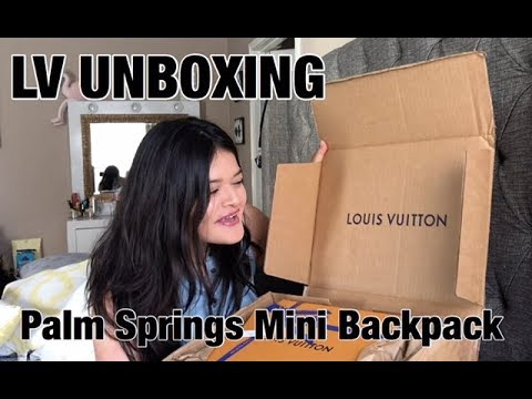 Louis Vuitton Palm Springs Mini Backpack Unboxing 2018 | alondraton