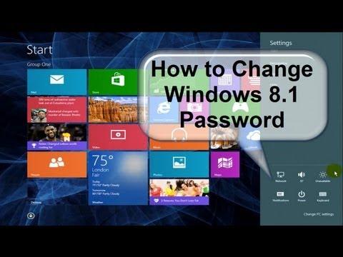How do i change my laptop password windows 8