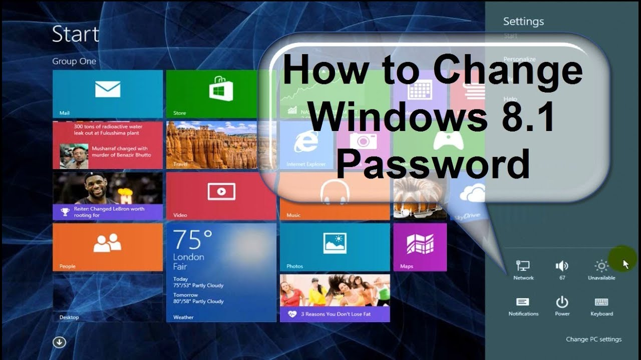 how to change your computer password on windows 8