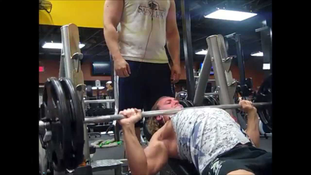 10 sets of 10 bench press