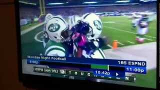 Jets player says N word on Monday night football